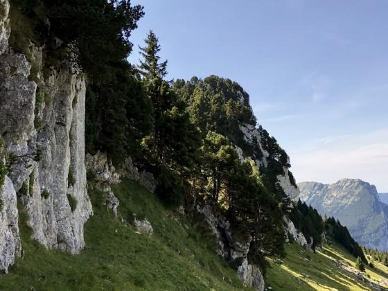 Passage pour monter au plateau de Charmilles, vers le Pas de la Rousse