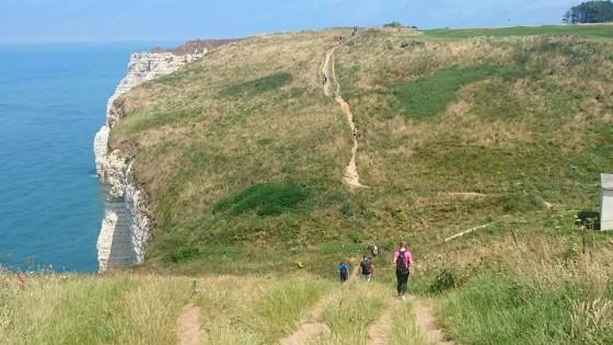 vue sur le sentier des falaises