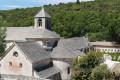 Abbaye de Senanques, vue du chemin surplombant