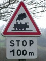 Ancien panneau de signalisation