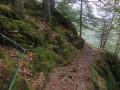 Arrivée à la Roche du Lac