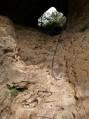 Ascension du passage dans la roche