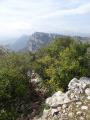 Baou de St Jeannet vu depuis le Baou de La Gaude