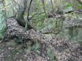 Blocs de grès dans la colline Tante Victoire