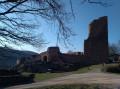 Le Rocher du Petit Moulin et le Château de Lutzelbourg