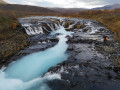 Les trois cascades : Hlauptungufoss, Midfoss et Bruarfoss