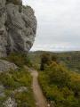 Dernière falaise avant d'arriver au sommet