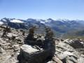Cairn et glaciers