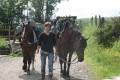Camille au départ de la Ferme Equestre de Chantaigut