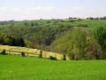 Chemin entre vallons et collines à Terre-Clapier