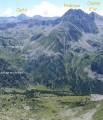 Carlit ,Pedrous et Coume d'or depuis le Pic d'Auriol