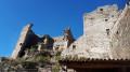 La tour Gisquet et le château de Montalet au départ de Saint-Ambroix
