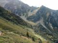 Chemin descendant vers la Passerelle du Mousset