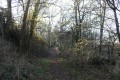 Chemin qui serpente au dessus du vallon de la Belle