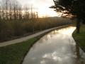 Coucher de soleil sur le canal.