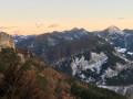 Coucher de soleil sur les montagnes châtillonaises