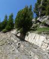 Couches de roche sédimentaire