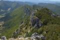 Les Rochers de la Sausse et le Col de la Bataille depuis Omblèze
