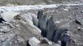 Crevasse sur le glacier de l'Argentière