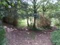 Croisement en haut de la combe herbeuse
