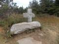 Croix de pierre sur le GR40