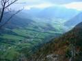 De l'arête du Mont Julioz vers la vallée