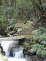 Départ du sentier grimpant vers la chute d'eau