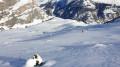 Descente sur les pentes d'estives de Peyrenère