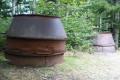 Deux  charbonnières métalliques