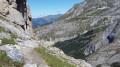 Deuxième partie technique de la descente du col du Grand Marchet