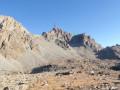 Du Bivouac Bertoglio vue sur Dante et le Couloir du Passo Fiorio-Ratti