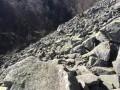 Eboulis de pierres