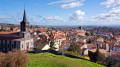 Eglise de Chatel-Guyon et vue sur la ville