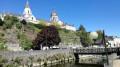 Eglise Ste Madeleine, vue depuis les berges de l'Oudon
