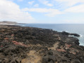 El Golfo au loin sur le sentier de lave