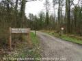 Entrée route forestière vers l 'étang des moines