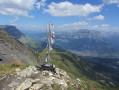 Fanion du sommet du Croisse Baulet