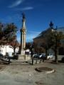 Fontaine sur la place de l'église du Russey