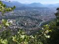 Grenoble depuis le chemin qui mêne au Col de Vence