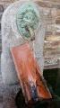Griffon en bronze à gueule de lion