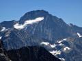 Gros plan sur la Roche de la Muzelle et ses glaciers