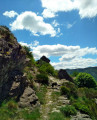 Joli sentier d'Ardèche