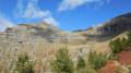 L'antécime du Pic du Tourond et à sa droite le col de la Venasque