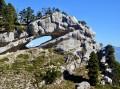 L'Arche Double et le Mont Blanc