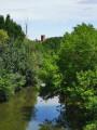 Les Coteaux, la Garonne et Arize depuis Carbonne