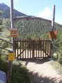 La barrière de l'alpage de Bramanette