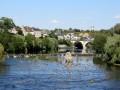 La Creuse et le pont reliant Saint-Gaultier à Thenay