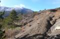 La Montagne de Couspeau depuis le chemin en hiver