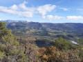 La Montagne de Glandasse et la Vallée de la Drôme depuis Les Rayes