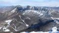 La Montagne de l'Epenet et de Musan depuis le somment de Pierre Chauve en hiver